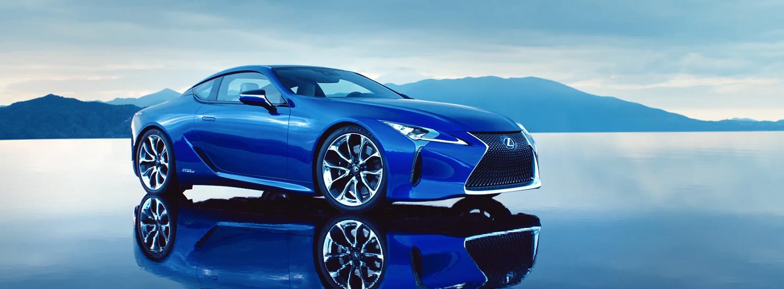 Blue Lexus LC 500h Video Cover