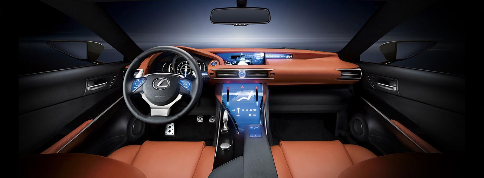 Inside Lexus LF-CC Concept Car