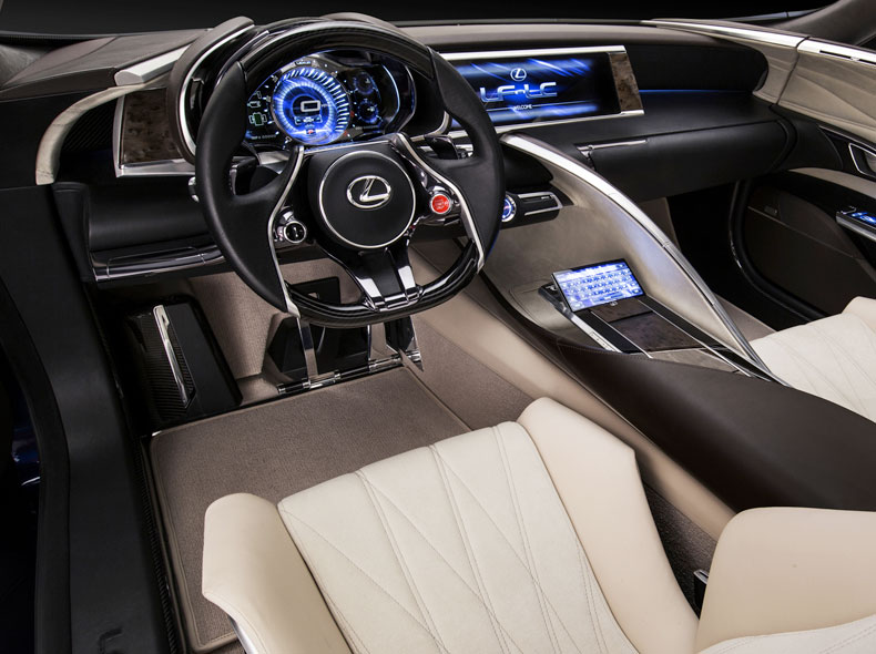 Lexus LF-LC Concept Car Drivers Seat & Dashboard