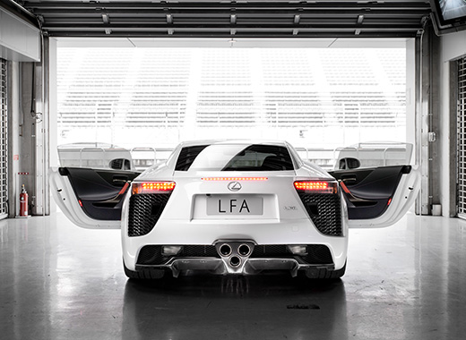 Lexus LFA Supercar Rear