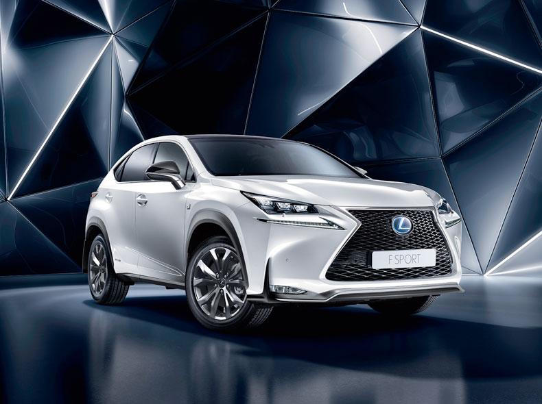 Lexus Silver NX F Sport Hybrid Car