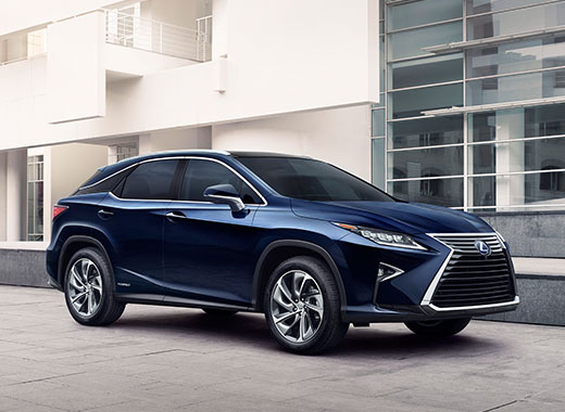 Lexus RX 450h Hybrid Car in Mercury Grey