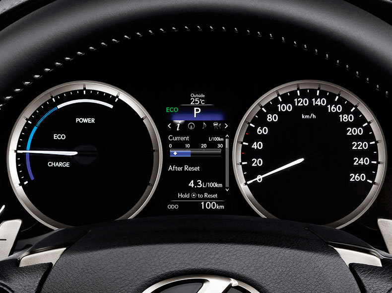 Lexus Hybrid Dashboard Dials