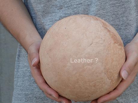"""Una sfera di materiale """"Leather """""""