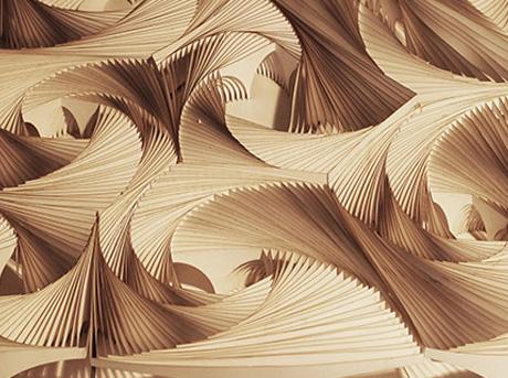 Dettaglio dell'innovativo progetto spirali architettoniche di diversa forma e grandezza