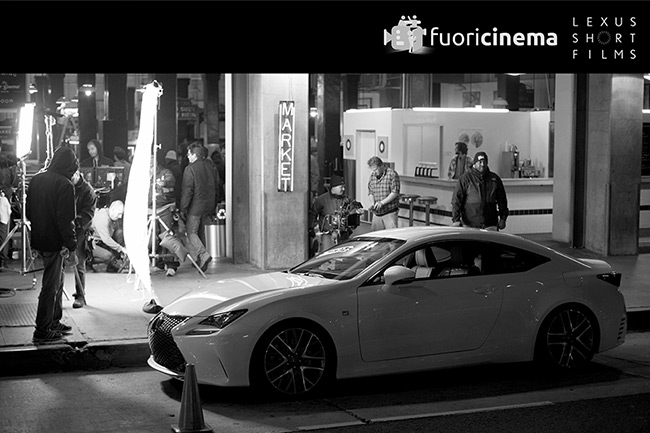 Una vettura Lexus sul set cinematografico