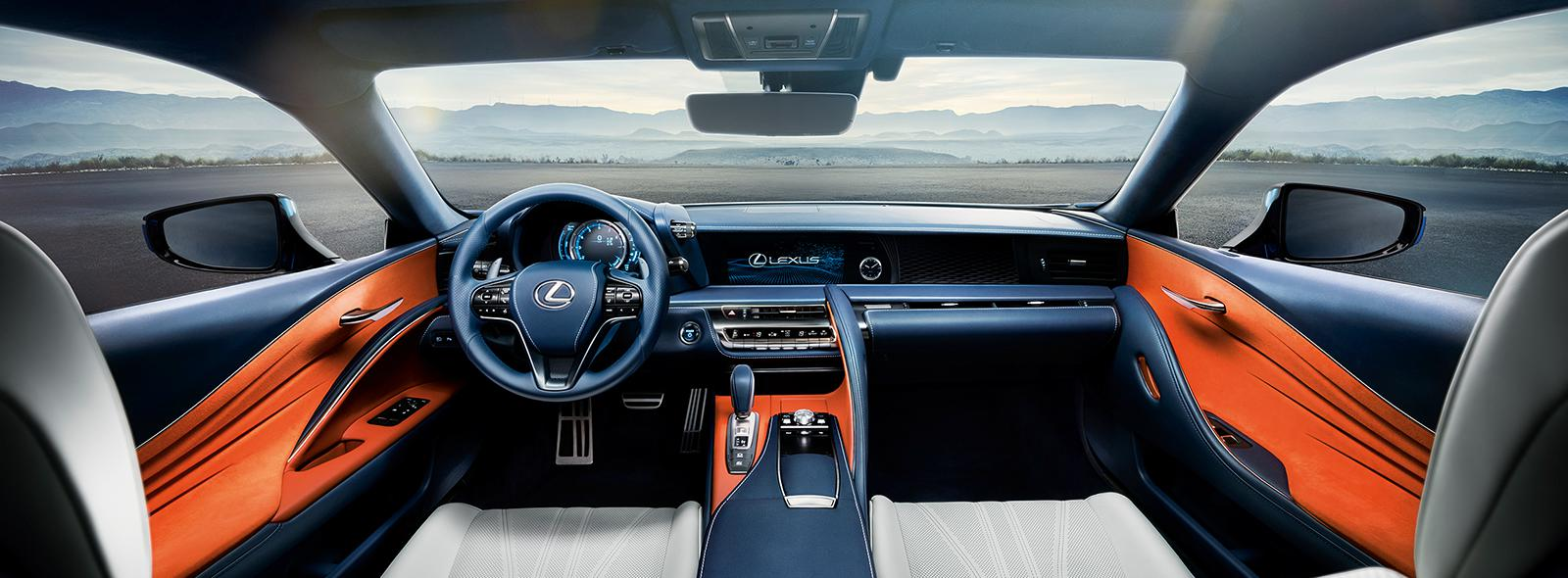Lexus LC 500h full front interior shot