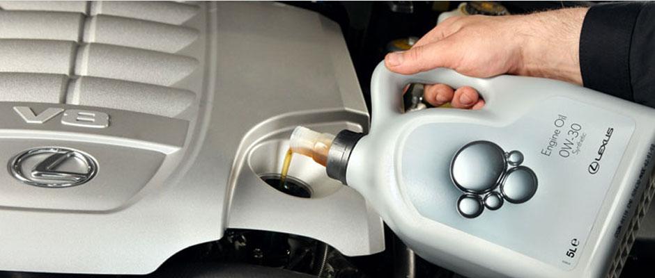 motor oil header