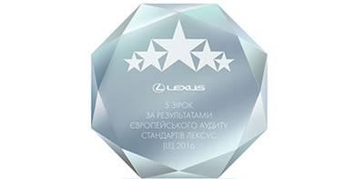 Нагорода всеєвропейского аудиту дилерів Лексус