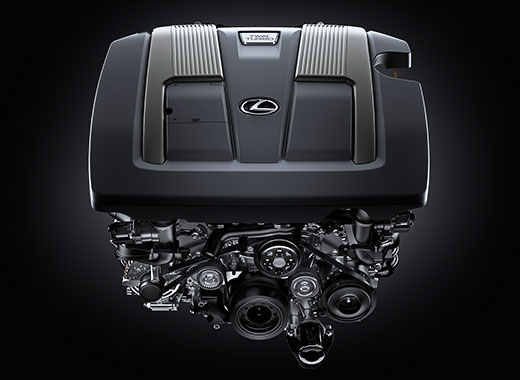 Lexus LS avtomobilində cüt turbolu mühərriki