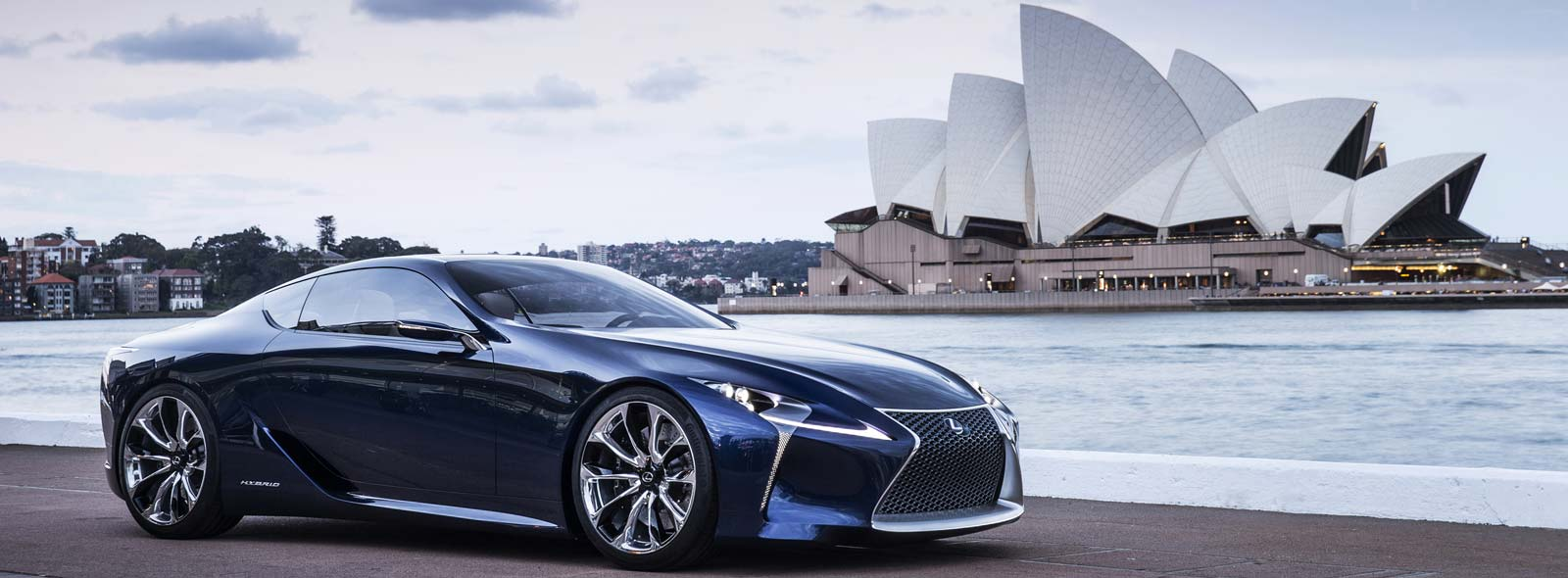 Aerodinamik Lexus LF LC Concept avtomobili