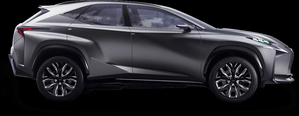 Lexus LF NX Concept avtomobilinin yan görüntüsü