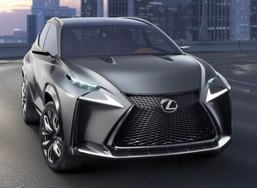 Lexus LF NX Concept avtomobilinin ön görüntüsü