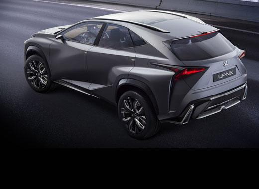 Üslublu Lexus LF NX Concept avtomobilinin
