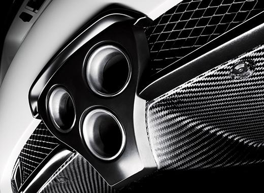 Lexus LFA avtomobilinin üçlü səsboğucusu