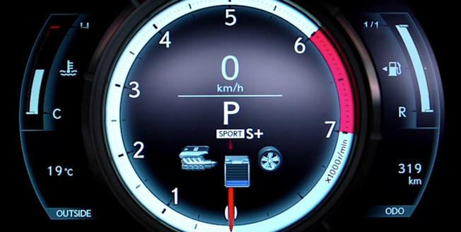 Lexus LFA avtomobilində cihazlar paneli