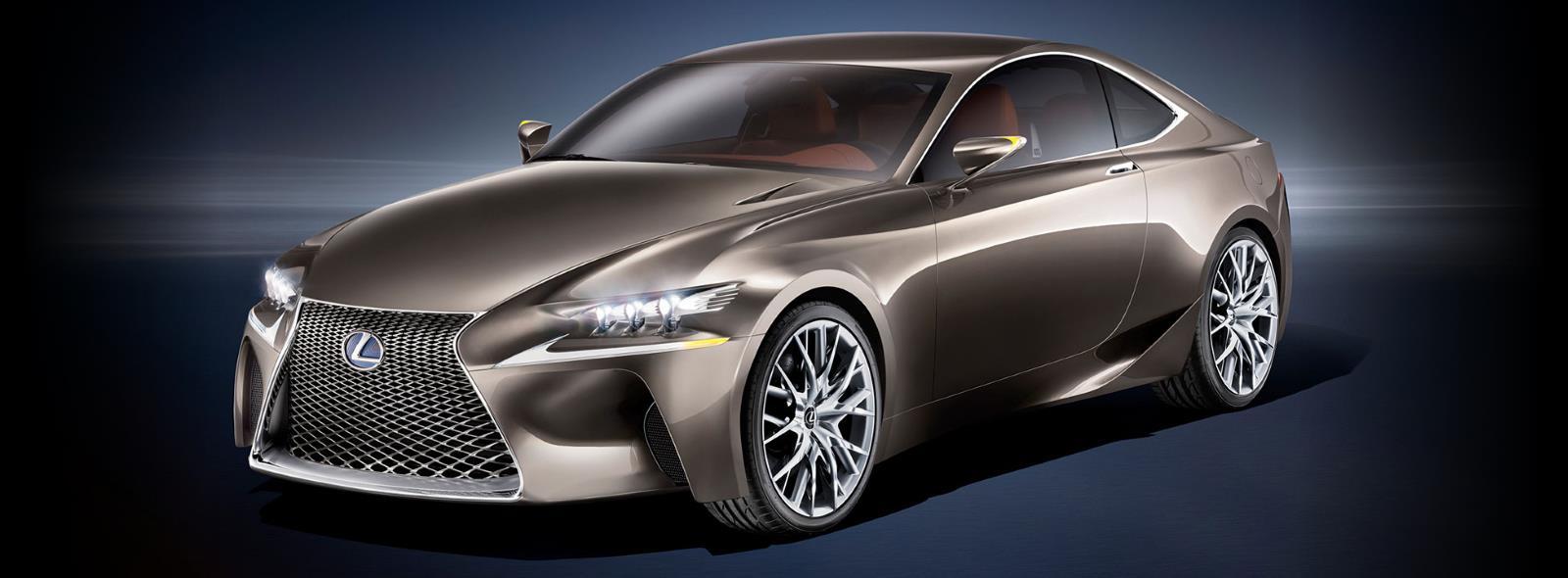İdman üslublu Lexus LF CC Concept avtomobilinin