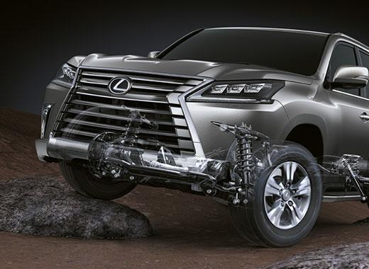 Lexus LX 450d avtomobilinin asqısı