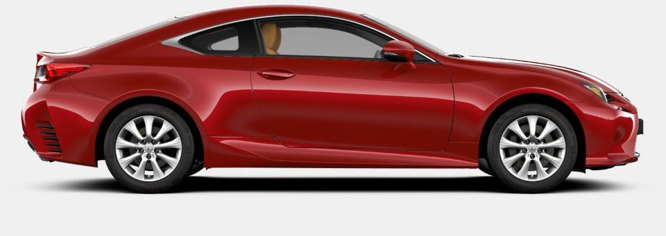 Lexus RC F avtomobilinin yan görüntüsü