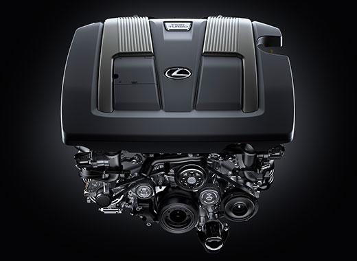 Двигатель с двойным турбонаддувом Lexus LS