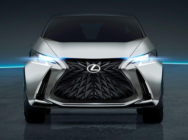 Вид спереди на концепт кар Lexus LF SA