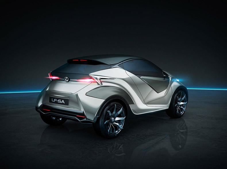 Задний вид концепт карa Lexus LF SA
