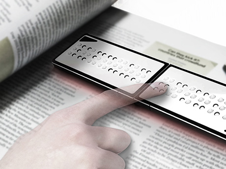 Braille reader créé par Juchun Jung