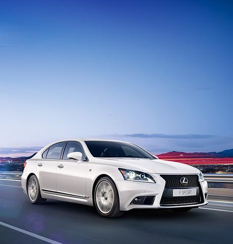 La Lexus LS F Sport blanche