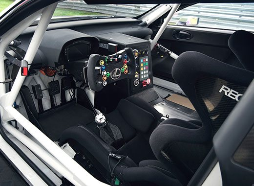 Vista interior del Lexus RC F GT3 2017