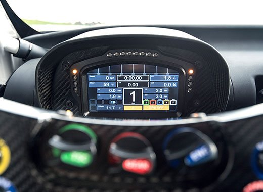 Vista detalle del panel de control del Lexus RC F GT3