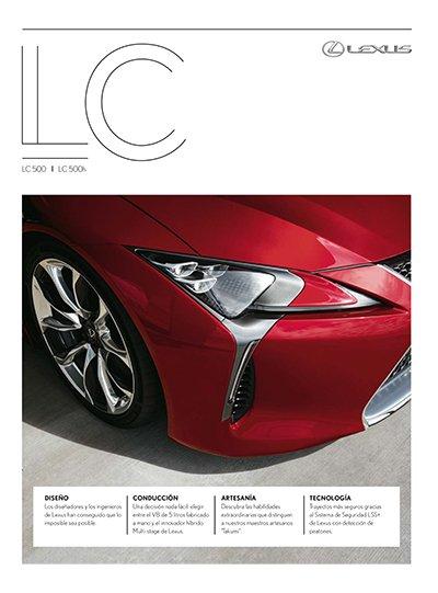 Portada del catálogo del Lexus LC 500