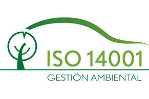 Logo de certificación IS 14001 de gestión ambiental