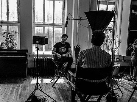 Grabación de una de las entrevistas