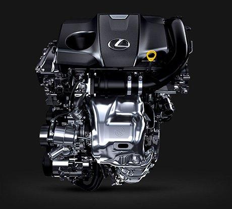 Vista frontal detalle del motor Lexus