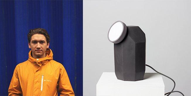 Lámpara inalámbrica y desarrollada con goma magnética