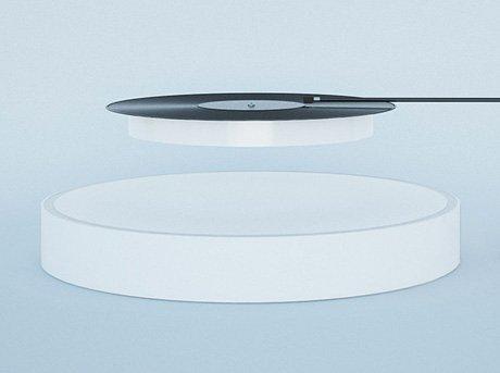 Tocadiscos moderno realizado con dos placas de concentricas