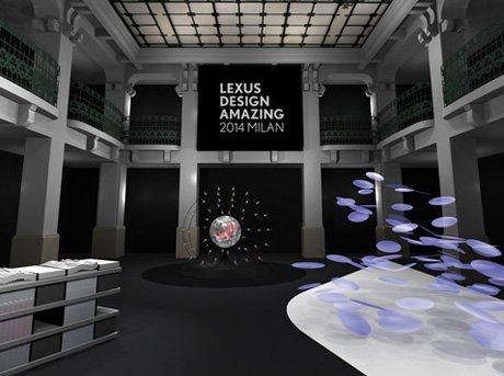 Diseño 3D de salón de evento en Milán