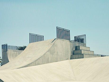 Vista de unas instalaciones tradicionales de skate