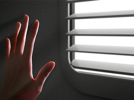 Calentador que simula la luz solar natural que entra por una ventana