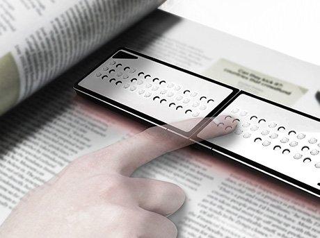 Lector de Braille que permite leer material impreso