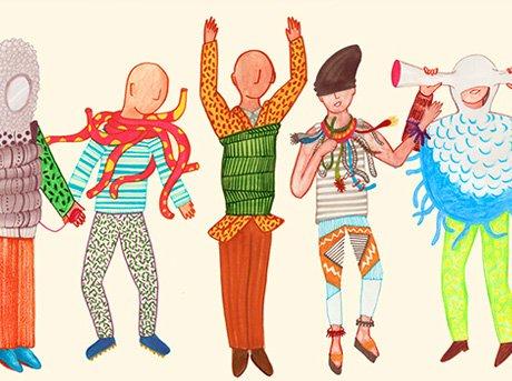 Ilustración de las prendas de ropa y accesorios propuesto en el proyecto