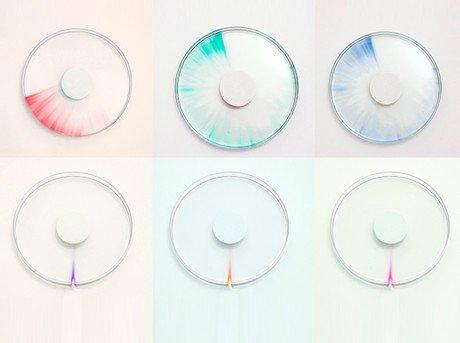 Con el uso de rayos ultravioleta y propiedades de decoloración visualizamos el paso del tiempo
