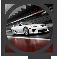 Vista detalle del coche en circuito