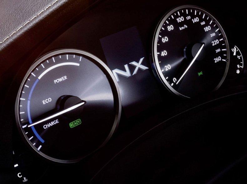 Vista detalle del cuentakilómetros del NX 300h