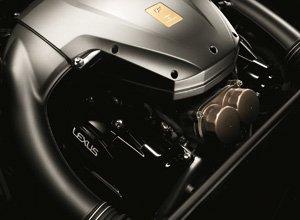 Vista detalle del potente motor V10