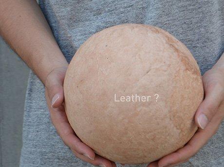 Forma esférica realizada en piel