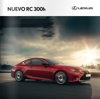 Portada catalogo modelo RC 300h en color rojo