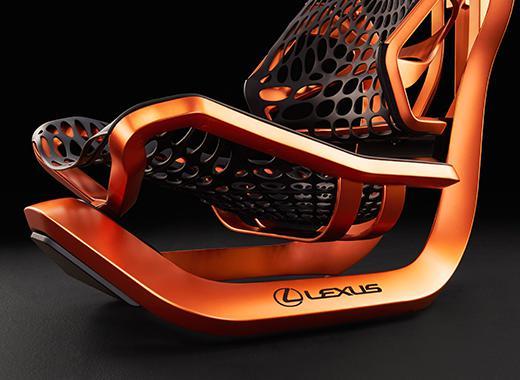 Vista detalle de la estructura naranja del asiento kinetic