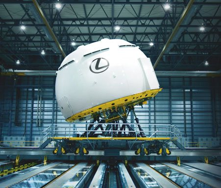 Cúpula de simulación de pruebas para los coches Lexus