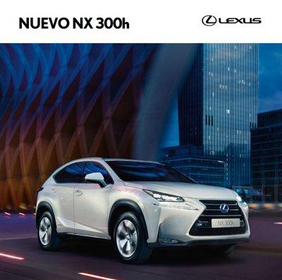 Portada del catálogo web del Lexus NX 300h el color blanco